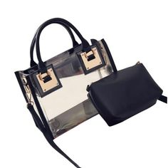 2018 New Women Clear Transparent Shoulder Bag Fashion High Quality ABS  Solid Zipper Phone Holder Bags Sac A Main Femme  Y 88fc757ae0