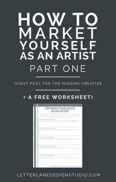 How to Market Yourself as an Artist PART ONE - Wondering how to get your name out there as a new artist? I'm sharing some tips I have for defining your niche, reaching your audience, and how to make money with your art! I've also includ Shop Logo, Craft Font, Illustrator, Sell My Art, Business Advice, Business Articles, Business Website, New Artists, Creative Business