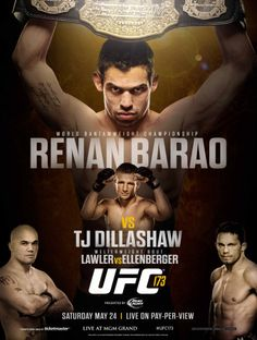 UFC Barao vs Dillashaw — Saturday, May live on Pay-Per-View from the MGM Grand Garden Arena in Las Vegas, Nevada. Tj Dillashaw, Dan Henderson, Ufc Events, Daniel Cormier, Mgm Grand Garden Arena, Pay Per View, Fight Night, Mixed Martial Arts, Champs