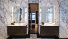 Bathroom design by Studio Jan des Bouvrie. #bathroom #marble #jandesbouvrie #interiordesign pic by #bodesbouvrie