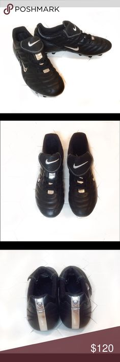 Nike Cleats NWOT Brand New. They are black and silver. Perfect for sports. Nike Shoes Athletic Shoes