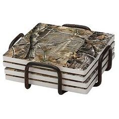 Thirstystone 4-pc. Realtree Occasions Coaster Set with Holder