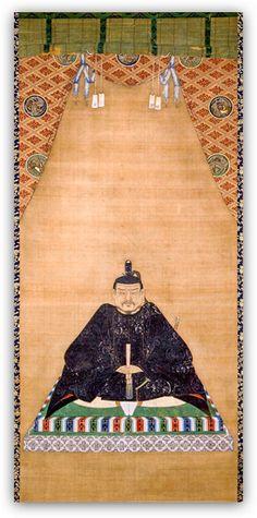 TOKUGAWA IEYASU 1ST SHOGUN FOUNDER JAPAN HISTORY PAINTING ART REAL CANVAS PRINT