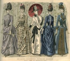 Peterson's Magazine January to June 1888 [Fashion and Fancy work pages] 1880s Fashion, Victorian Fashion, Vintage Fashion, French Fashion, 19th Century Fashion, Vintage Gowns, Vintage Clothing, Vintage Ladies, Historical Costume