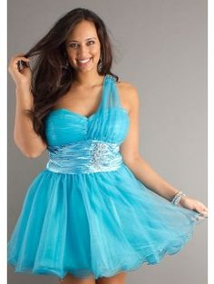 A-line One-shoulder Sweetheart-neck Mini Length Organza Plus Size Cocktail Gowns Year 10 Formal Dresses, Cheap Short Prom Dresses, Mini Prom Dresses, Prom Dresses For Sale, Bridesmaid Dresses, Plus Size Cocktail Dresses, Cocktail Gowns, Beaded Evening Gowns, Evening Dresses