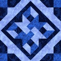 True Blue-love the colors and pattern!