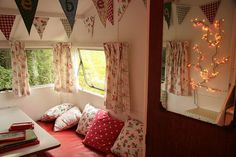 happily shabby travel trailer interior!