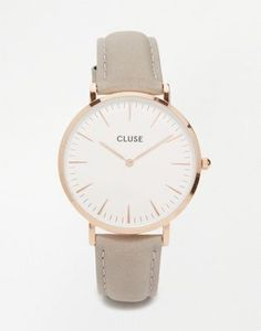 f0f511a5725 CLUSE CL18015 La Boheme rose gold and gray leather watch