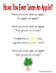 Have you ever seen an apple?