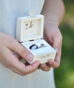 Vintage chic anello di casella di portatore