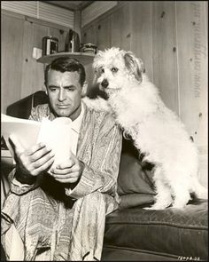 Cary Grant | Classic Movie Stars Spending Time With Their Pets