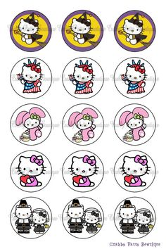 Hello Kitty Holiday Bottle Cap Images