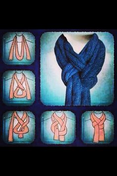way to tie a scarf