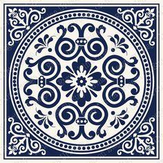 Digital tiles ornate wall art for home decor PRINTABLE Navy Marble Art, Tile Art, Mosaic Tiles, Wall Tiles, Blue Pottery, Turkish Art, Circle Design, Motif Design, Stencil Painting