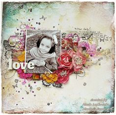 Scrapbook layout 'Love' layout + VIDEO tutorial