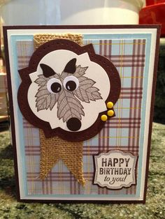 Stampin' Up! with a little help from my four legged friends!