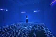 Light installations by Jeongmoon Choi. 2. Space Skeleton (2007)