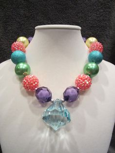 Multi-color Chunky Beads Necklace
