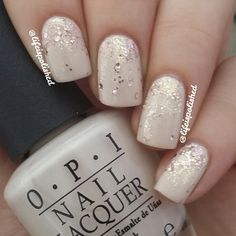 White and glitter.  Can never go wrong with this