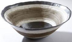 Helen Vaughan | Ceramic Bowl, Crude ore/pewter.