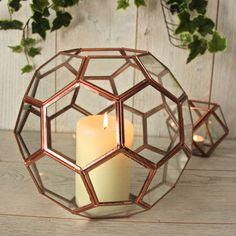 Oversized Glass Geometric Candle Holder