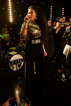 """""""Rumble,"""" young girl, rumble. Kelis charges through a performance on March 3 in London"""