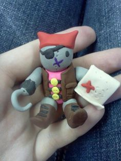 Pirate kitty  From my Cute Kitten Collection  $7.00 at http://www.etsy.com/shop/ToniasTrinkets