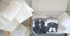 Sweetcase Valise de maternité complète. A beautiful suitcase packed with all the essentials for baby's first few weeks.