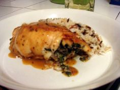 Chicken Stuffed with Mushrooms, Spinach, and Ricotta