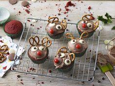 Rudolf Red Velvet Cup Cakes