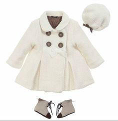 Baby fendi coat hat and boots