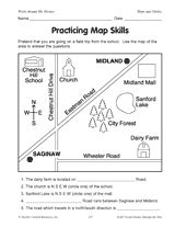 Worksheets Map Skills Worksheets 3rd Grade map skills worksheet education pinterest the ojays world skills