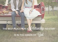 The best place for a relationship to start is in the hands of God. Godly Dating, Godly Marriage, Love And Marriage, Happy Marriage, Christian Dating, Christian Quotes, True Love Waits, Christian Relationships, Dear Future Husband
