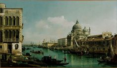 Canvas Art Prints Fabric Wall Decor Giclee Oil Painting Bernardo Bellotto (italian - View Of The Grand Canal And Dogana $13.9