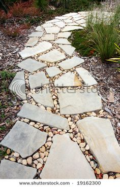 an idea of something to put between our flagstone.