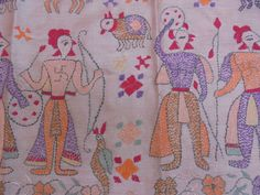 A Beautiful Hand Embroidered Tribal Silk Cloth Handkerchief. by LallibhaiIndia on Etsy