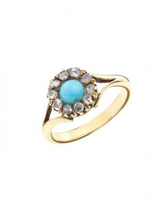 18ct Turquoise & Diamond Ring - Available at Onyx Goldsmiths