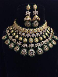 Teardrop necklace set with dangle earrings and bracelet / Wedding Jewelry Set Pearl / Drop Pearl Bridal Jewelry Set Minimalist - Custom Jewelry Ideas Indian Jewelry Sets, Indian Wedding Jewelry, Wedding Jewelry Sets, Bridal Jewellery, Handmade Jewellery, Indian Bridal, Amrapali Jewellery, India Jewelry, Jewelry Party