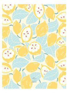 L'affiche Citrons Allover - Zina Lahrichi x émoi émoi EMOI EMOI - Photo