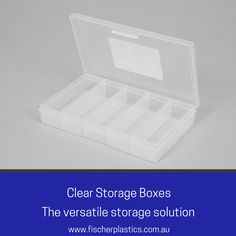 Our Clear Storage Boxes are ideal for storing smaller bits and pieces such as sewing kits or beads. Alternatively, they can also be used for smaller pieces in your van or warehouse storage. Our Clear Storage Boxes are a highly versatile storage solution.