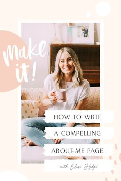 How to Write a Compelling 'About Me' Page For Your Website: Copywriting tips for your business with Elise Hodge. #businesstips #websitetips #copywritingtips #websitetips #marketing Business Pages, Business Tips, Creative Business, Online Business, Business Website, Business Branding, Business And Economics, Business Education, About Me Page