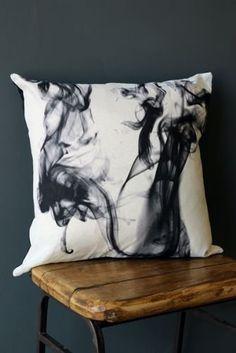 Linen Smoke Cushion by A Min... from rockettstgeorge.co.uk on Wanelo