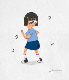 Tina Belcher by JJ Harrison Dear Diary: Tonight I'm sneaking off to the abandoned taffy factory to look for treasure. Also, if boys had uteruses, they'd be called duderuses Tina Belcher, Nerd Love, My Love, Bobs Burgers, Bob's Burgers Tina, Gifs, Bob S, American Dad, Dear Diary