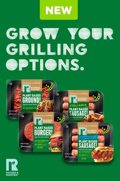 Grow your grilling options with 100% plant-based sausages, ground options, and patties full of flavor and plant protein. Shop varieties at your local Hy-Vee or click to shop online. Chicken And Veggie Recipes, Protein Shop, Good Burger, Plant Protein, Summer Bbq, Sausages, Saturated Fat, Recipe Using, Plant Based