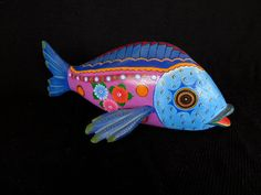 Unique Hand Carved and Painted Fish by Jacobo & Maria Angeles