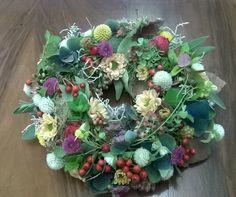herbstkranz Floral Wreath, Wreaths, Home Decor, Art, Crown Cake, Autumn, Art Background, Floral Crown, Decoration Home