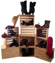 Nesting Crate SET OF 3- Rustic Wood Shoe Display Shelf Crates Retail Dorm Shelves   eBay   $37 JBrothersandCompany.com