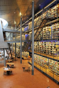 TU Delft Library.  Looks like a book factory warehouse.