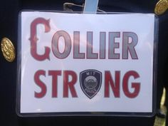 Badges passed out in support of Off. Collier