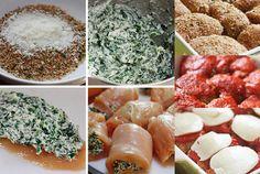 Pechugas de pollo al horno rellenas de espinacas y requesón - Recetín